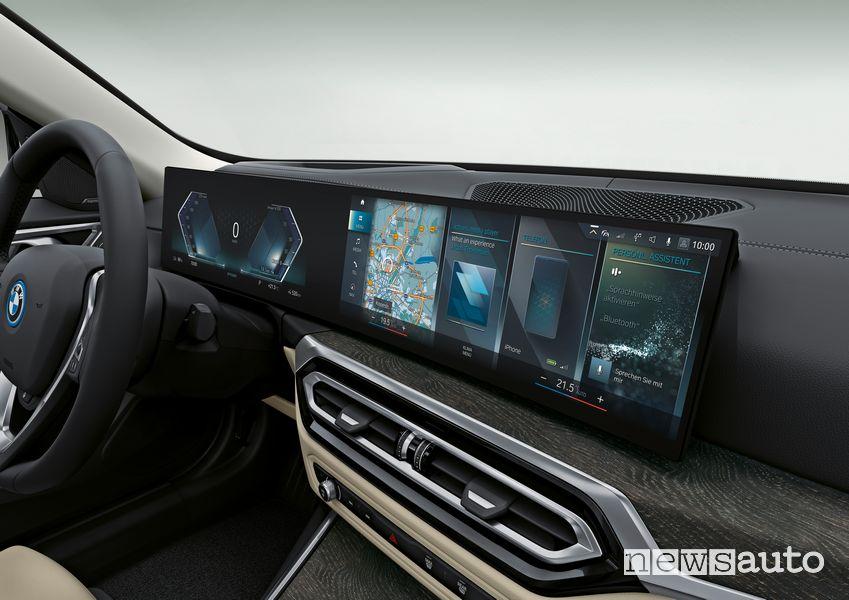 Plancia strumenti abitacolo BMW i4 eDrive40 elettrica