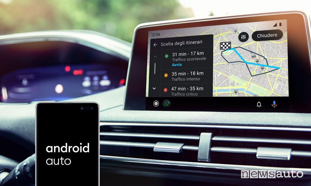App navigatore COYOTE su Android Auto
