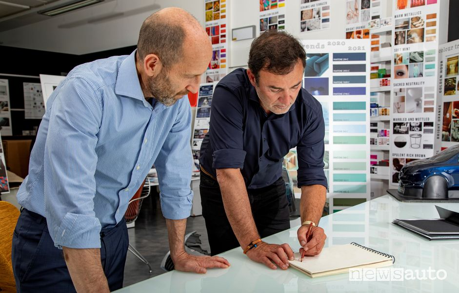 Jean-Pierre Ploué insieme a Luca Napolitano, CEO Lancia