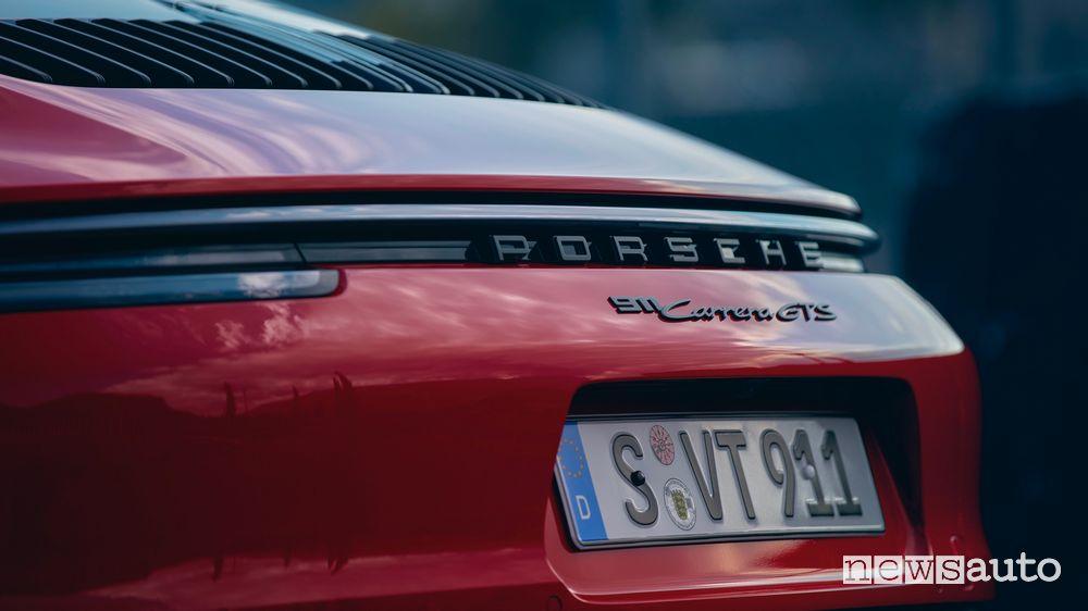 Paraurti posteriore nuova Porsche 911 Carrera GTS