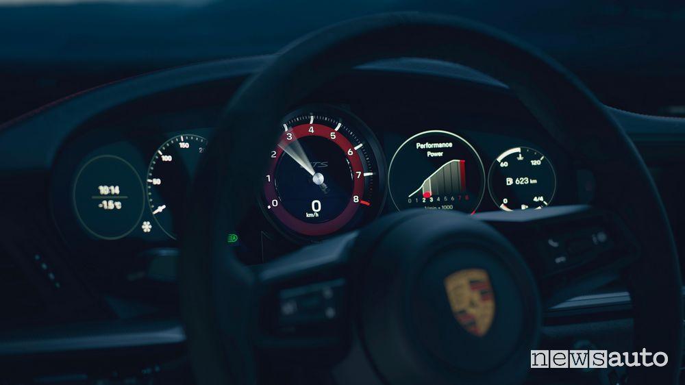 Quadro strumenti nuova Porsche 911 Carrera GTS