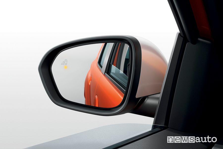 Specchietto, avviso angolo morto nuovo Dacia Duster