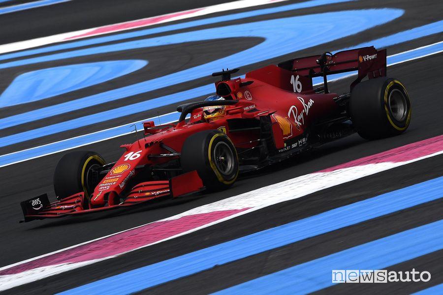 Qualifiche GP Francia 2021 Ferrari Leclerc