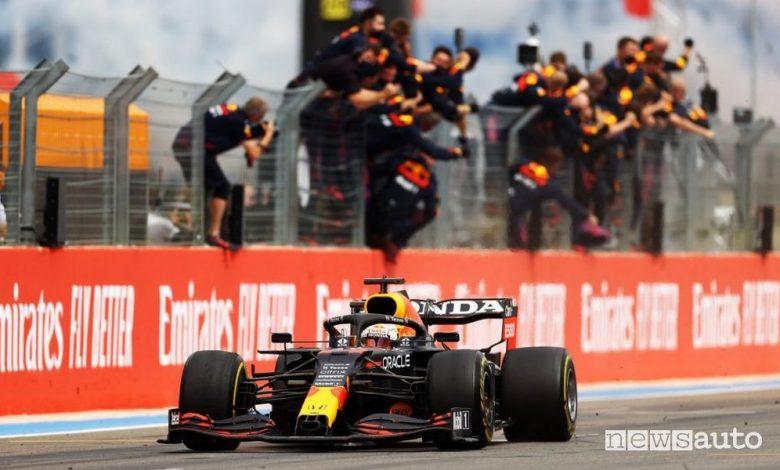 F1 Gp Francia, gara vinta dalla Red Bull con Verstappen [foto classifiche]
