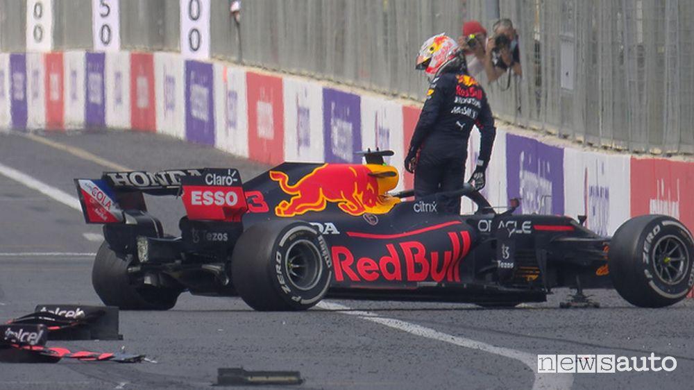 F1 Gp Azerbaijan 2021 incidente Red Bull Verstappen