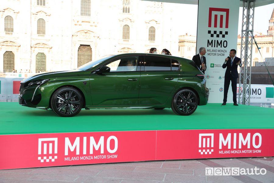 La nuova Peugeot 308 per la prima volta in pubblico in Italia al MIMO