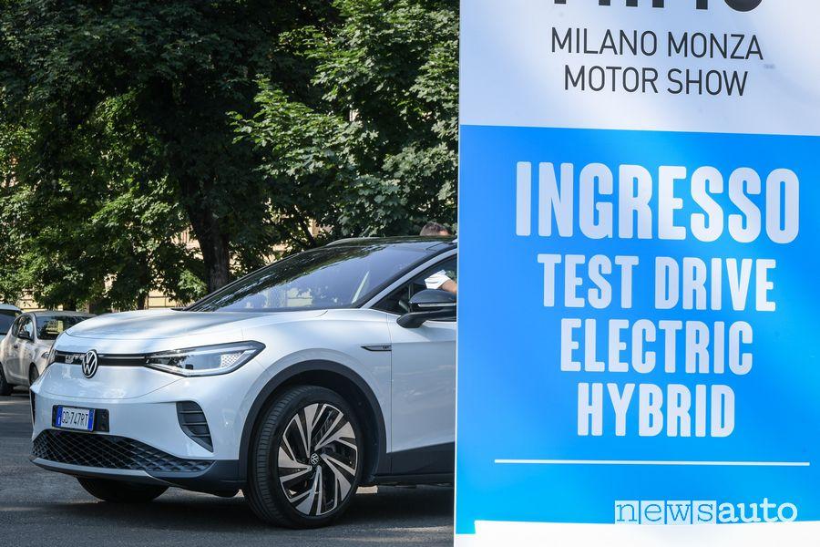 Test drive auto elettriche e ibride al MIMO Milano Monza Motor Show 2021