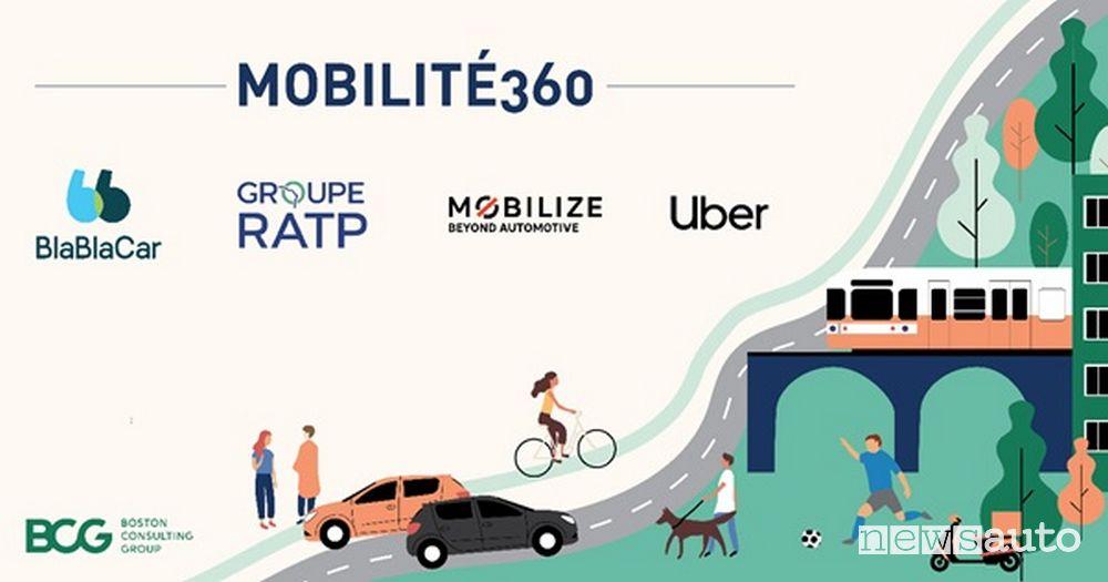 Mobilité360 riunisce i marchi di mobilità BlaBlaCar, Mobilize, il Gruppo RATP ed Uber