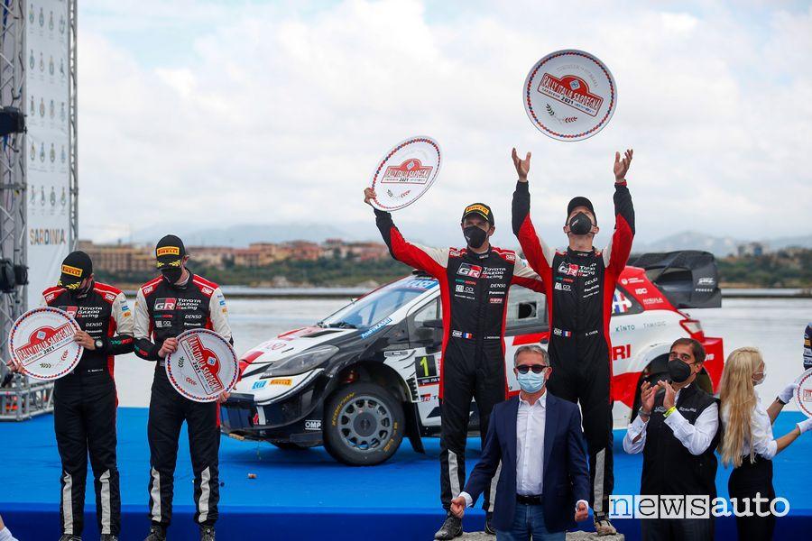 Podio finale WRC Rally d'Italia in Sardegna 2021