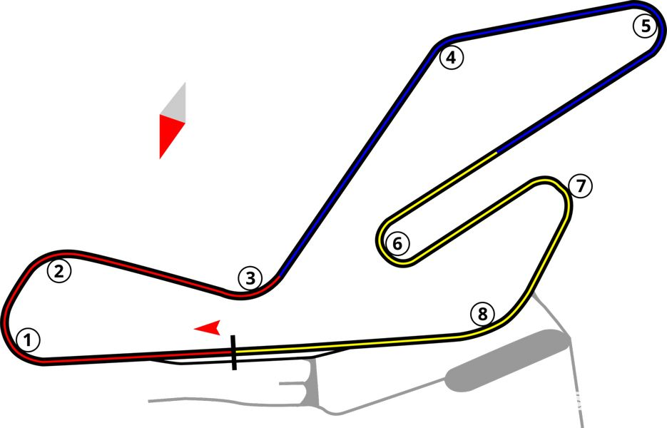 cartina del circuito di Morano sul Po