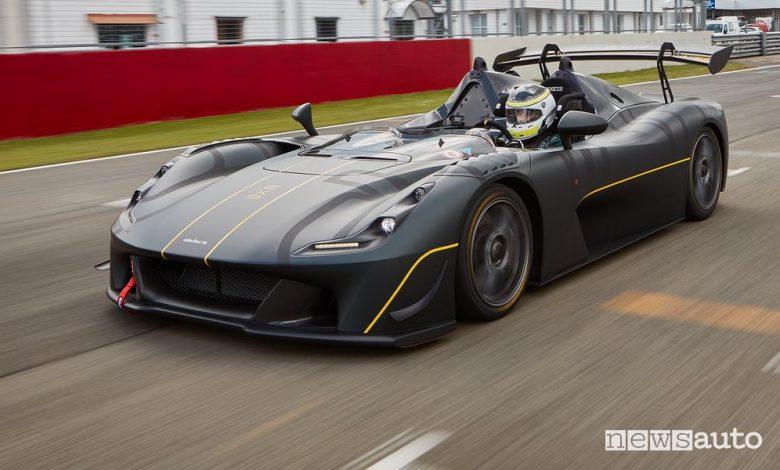 Vista di profilo Dallara EXP in pista