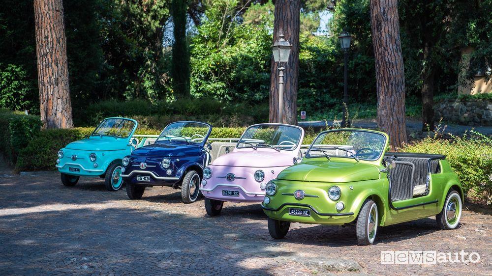 Fiat 500 Jolly Icon-e Spiaggina elettrica nei nuovi colori