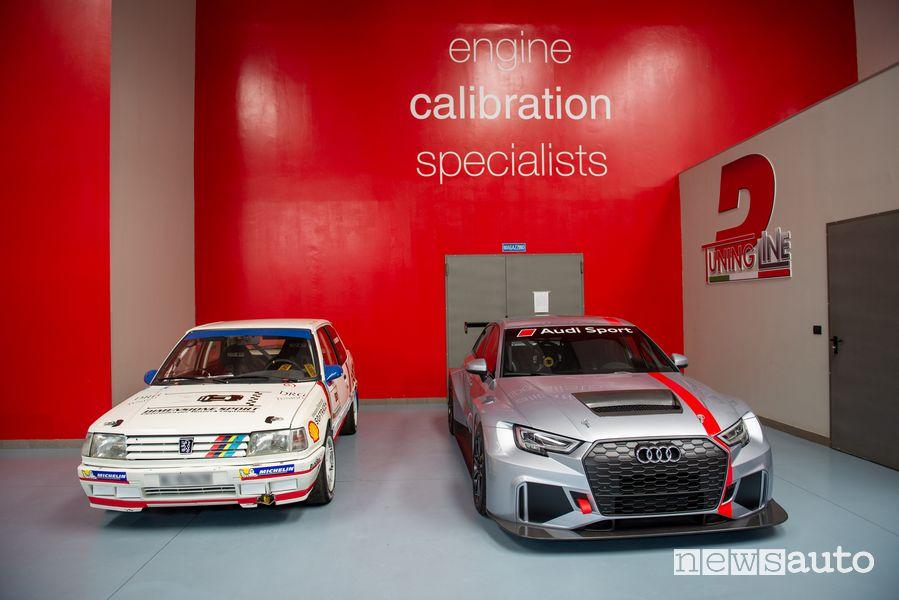 La Peugeot 309 GTI e l'Audi RS3