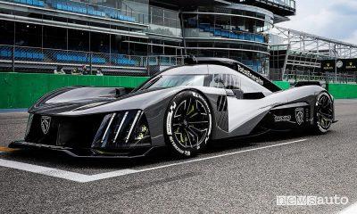 Peugeot 9X8, la nuova hypercar ibrida da corsa, caratteristiche