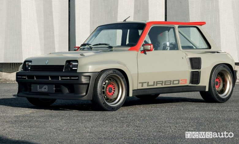 Vista di profilo Renault R5 Turbo 3 restomod