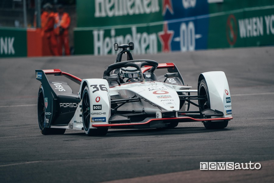 Gara ePrix Londra Formula E 2021 André Lotterer Porsche Formula E