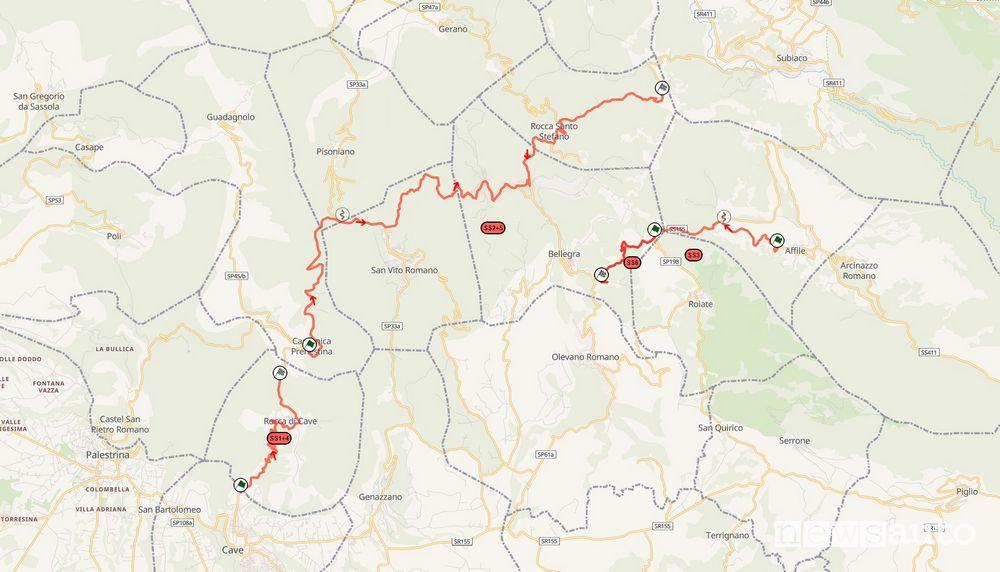 Mappa Rally di Roma 2021 prove speciali in programma sabato 24 luglio