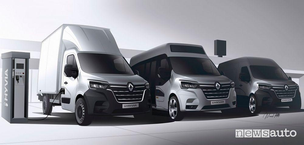 nuova gamma Renault Master E-Tech ad idrogeno: Citybus, Van e Telaio Cabinato
