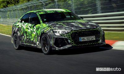Nuova Audi RS 3, tempo record al Nürburgring