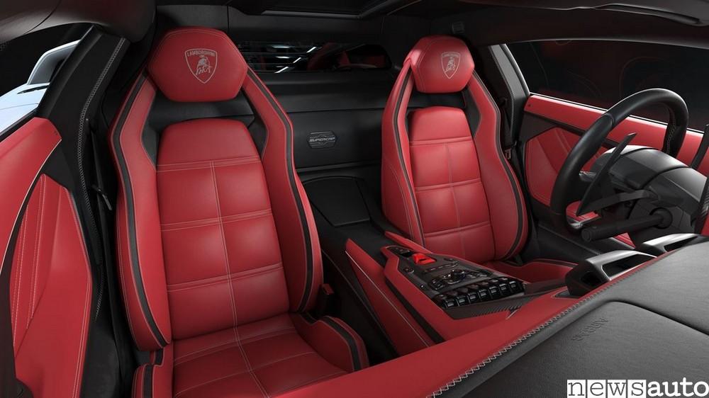 Sedili ed interni della nuova Lamborghini Countach