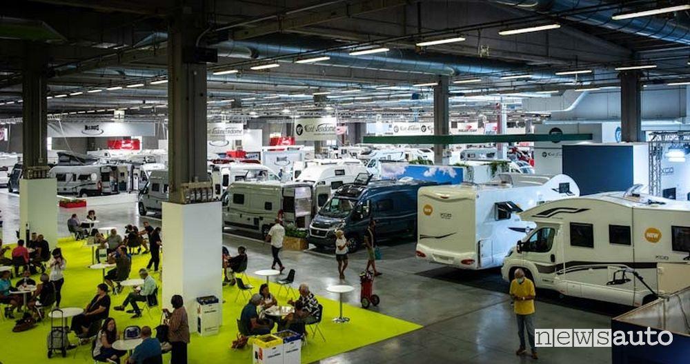 Salone del Camper aree tematiche Caravan e Camper, Accessori, Shopping e Percorsi e mete