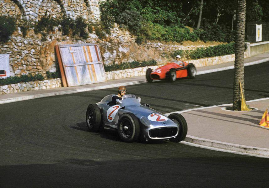 F1 Heros Gp Monaco 1955 Juan Manuel Fangio (Mercedes-Benz W196) e Alberto Ascari (Lancia D50)