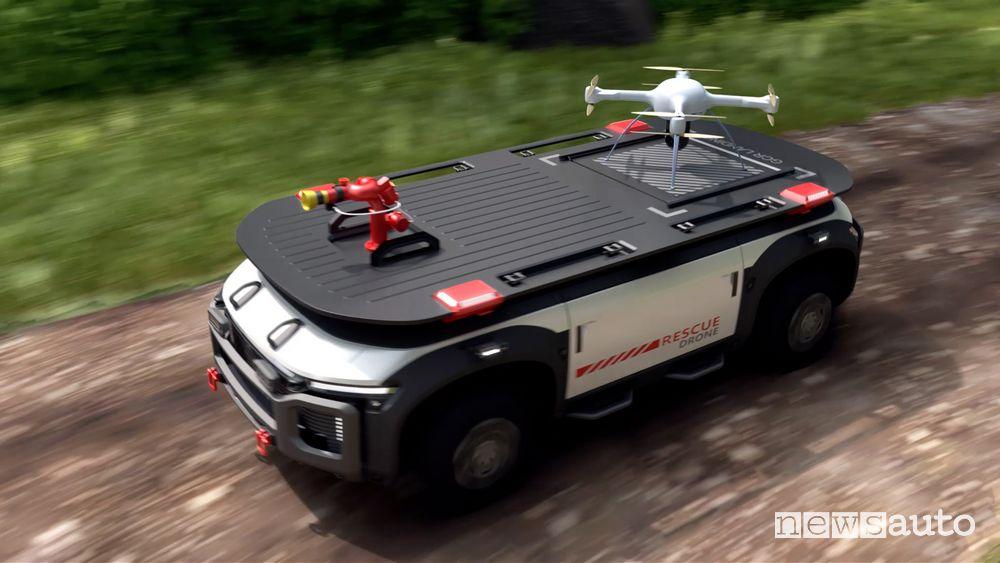 Rescue Drone ad idrogeno da utilizzare in caso d'emergenza