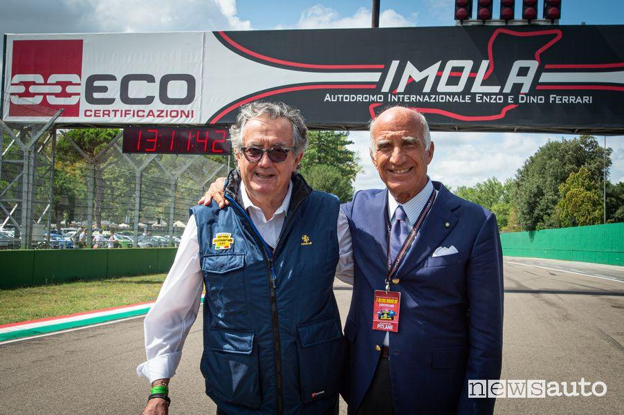 Gian Carlo Minardi e Angelo Sticchi Damiani all'Historic Minardi Day 2021