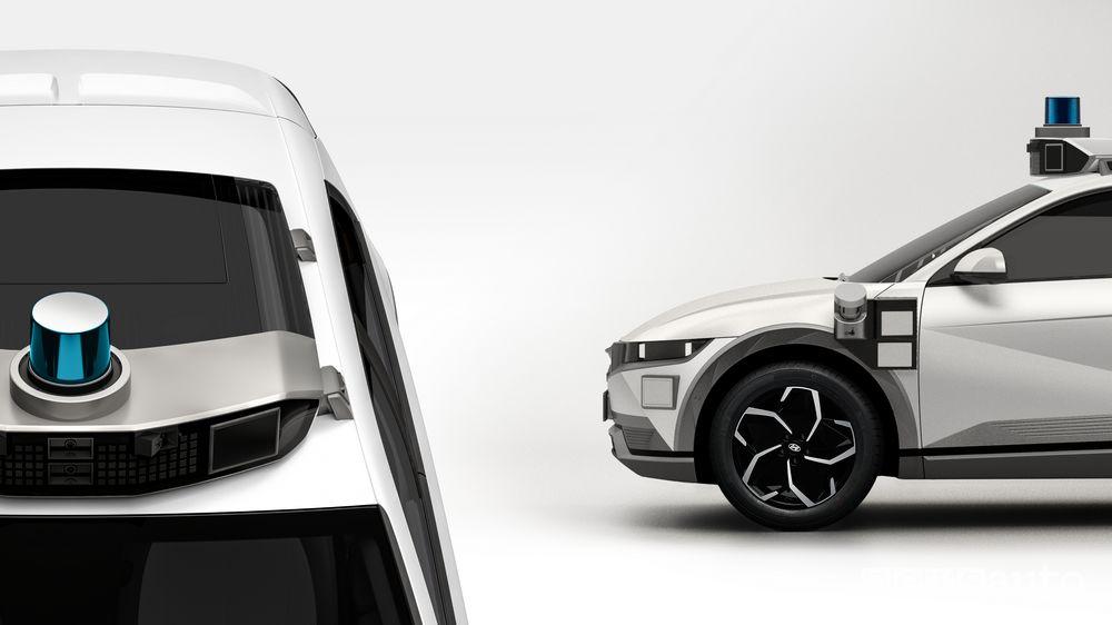 Sensori guida autonoma Hyundai Ioniq 5 robotaxi