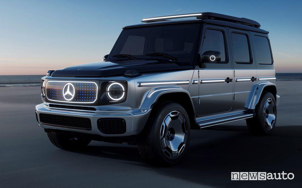Vista di profilo Mercedes-Benz EQG Concept