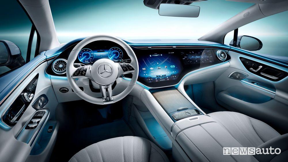 Plancia strumenti abitacolo nuova Mercedes EQE 350 elettrica