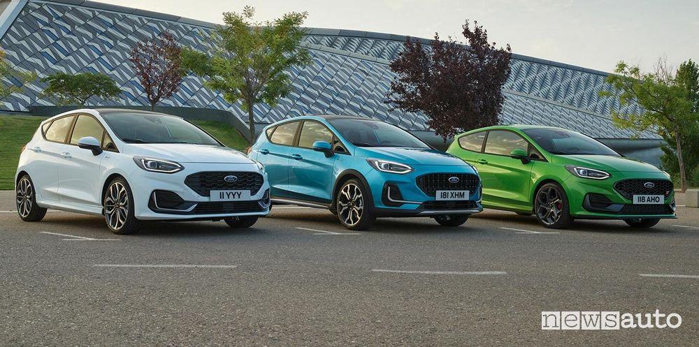 Gamma nuova Ford Fiesta ST Line, Active e ST