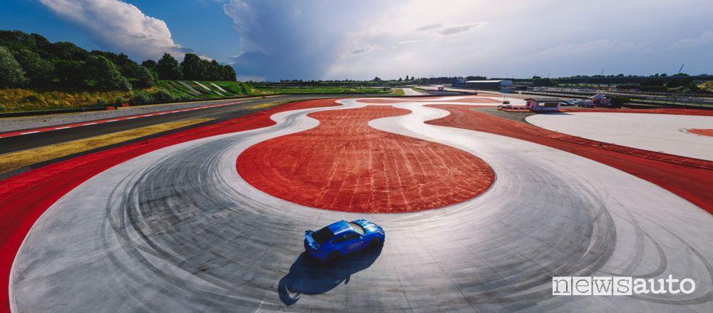Area guida sicura Porsche Experience Center di Franciacorta