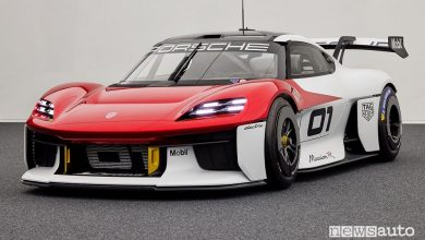 Porsche Mission R, caratteristiche auto elettrica da corsa