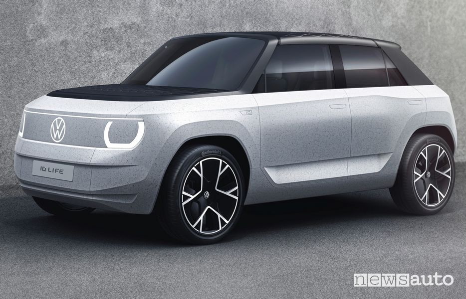 Vista di profilo Volkswagen ID.LIFE concept car