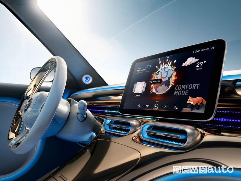 Touchscreen abitacolo smart Concept SUV elettrico