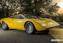 Vista di profilo Lamborghini Countach LP 500 concept