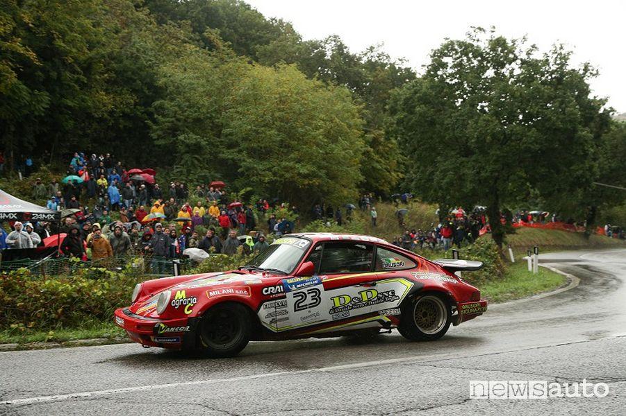 Rallylegend 2021 Brusoni su Porsche 911 RS 3000 (1985)