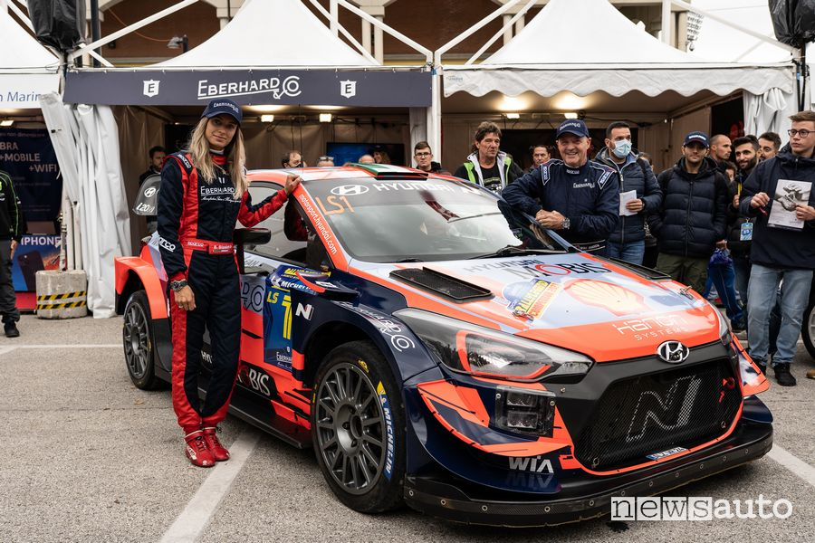 Rallylegend 2021 Miki e Bettina Biasion con la Hyundai i20 WRC Plus