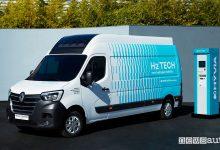 Vista di profilo Renault Master Van H2-TECH ad idrogeno
