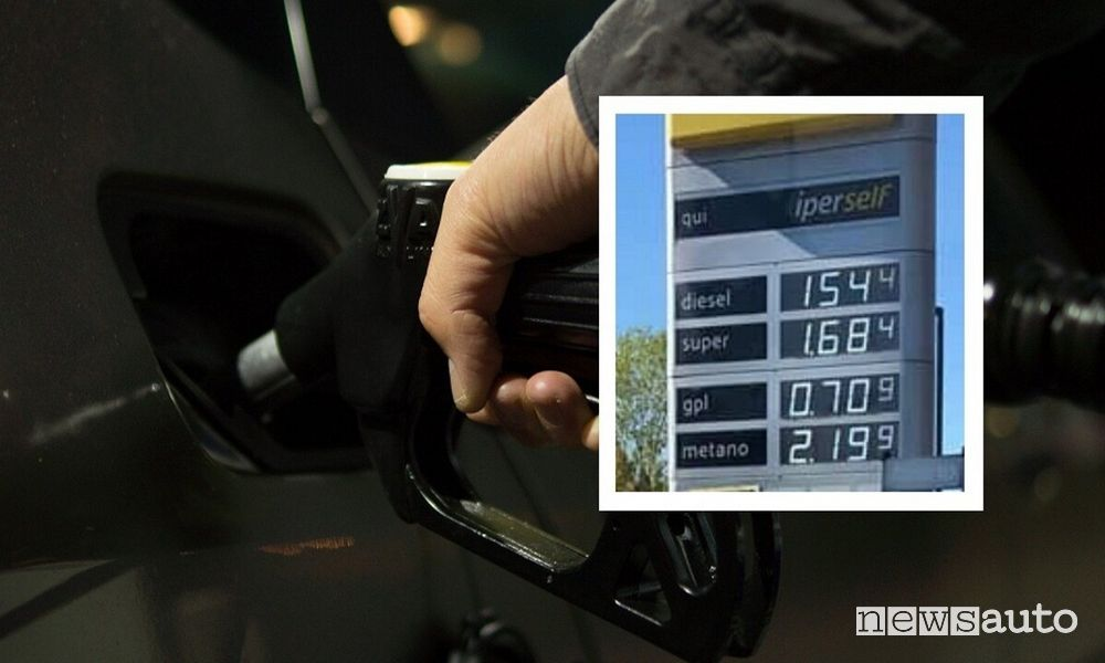 Aumento prezzo benzina diesel e metano